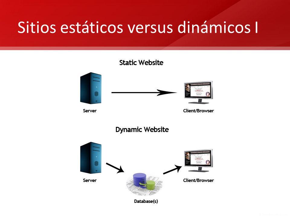 Sitios estáticos versus dinámicos I