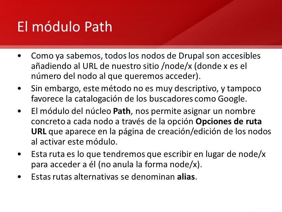 El módulo Path