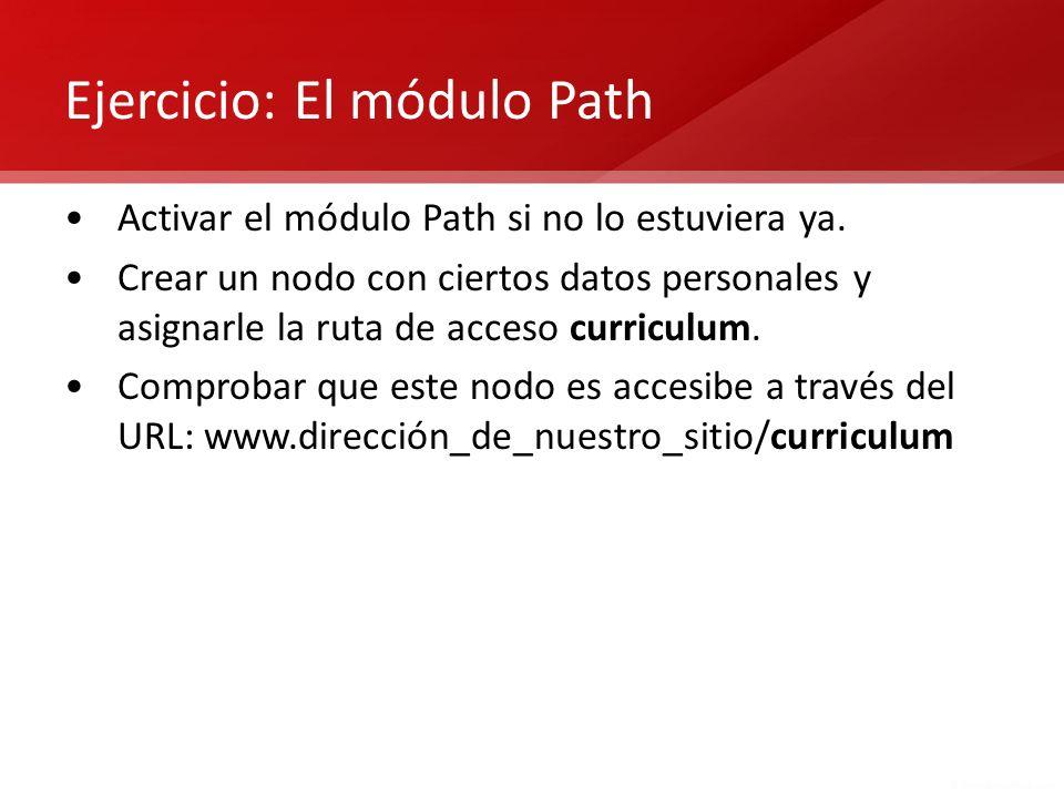 Ejercicio: El módulo Path