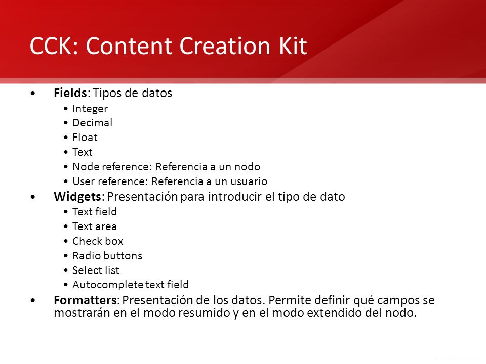 CCK: Content Creation Kit