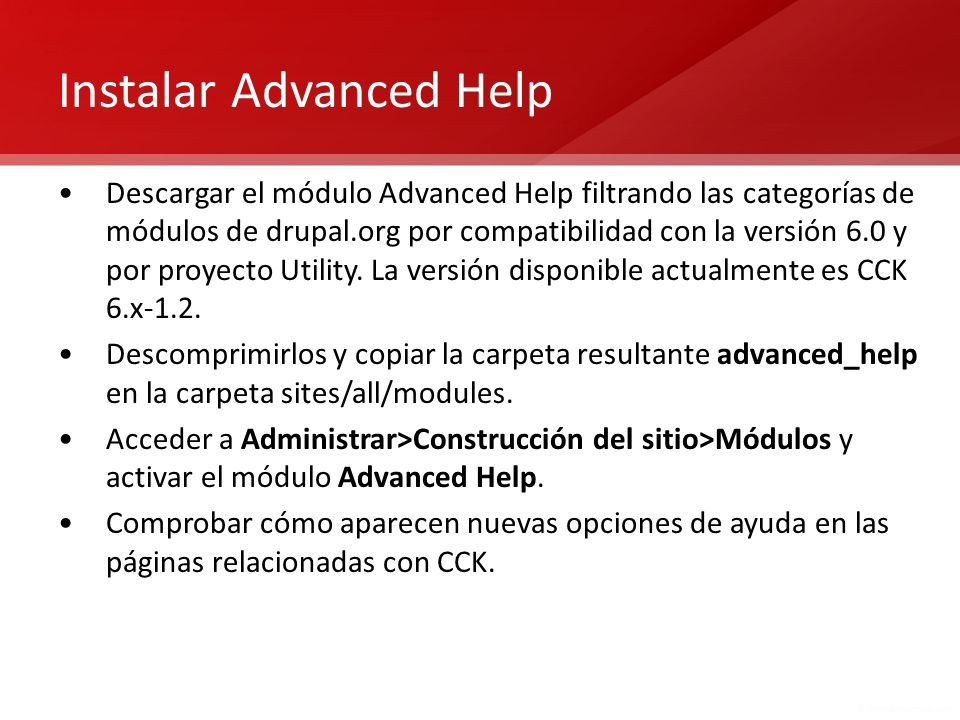 Instalar Advanced Help