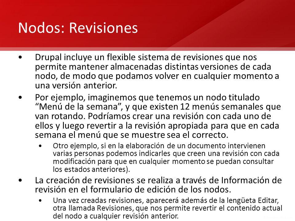 Nodos: Revisiones