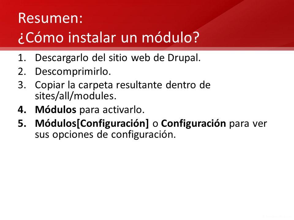 Resumen: ¿Cómo instalar un módulo