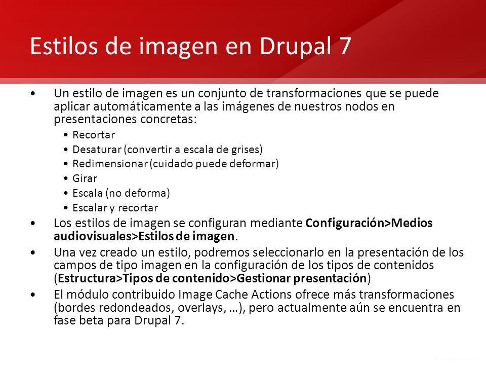 Estilos de imagen en Drupal 7