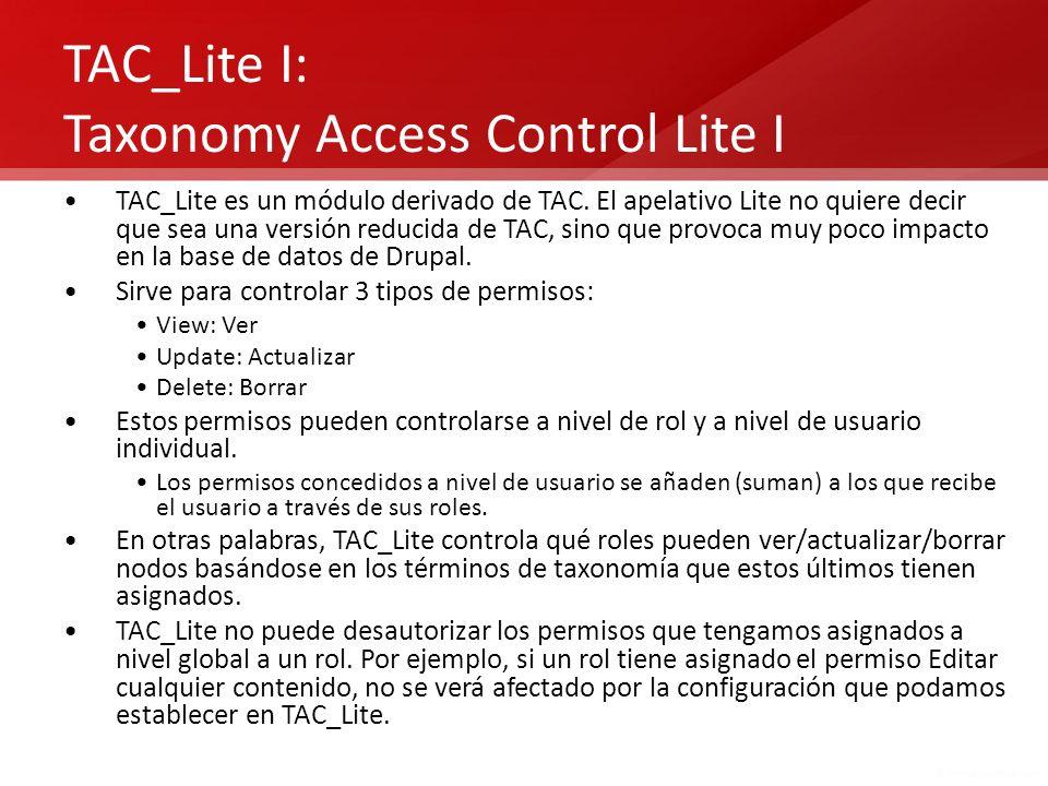 TAC_Lite I: Taxonomy Access Control Lite I
