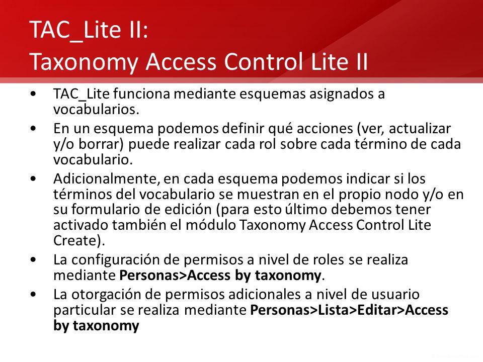 TAC_Lite II: Taxonomy Access Control Lite II