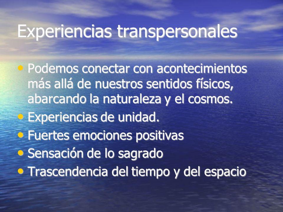 Experiencias transpersonales