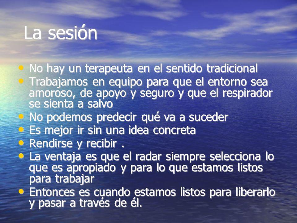 La sesión No hay un terapeuta en el sentido tradicional