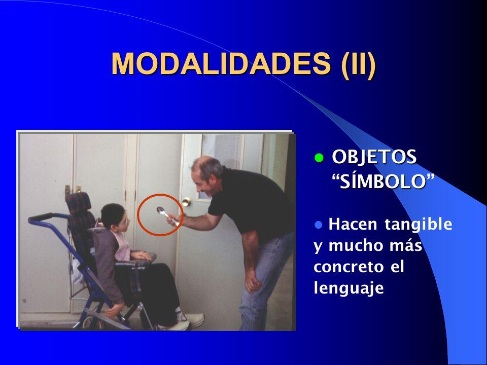 MODALIDADES (II) OBJETOS SÍMBOLO