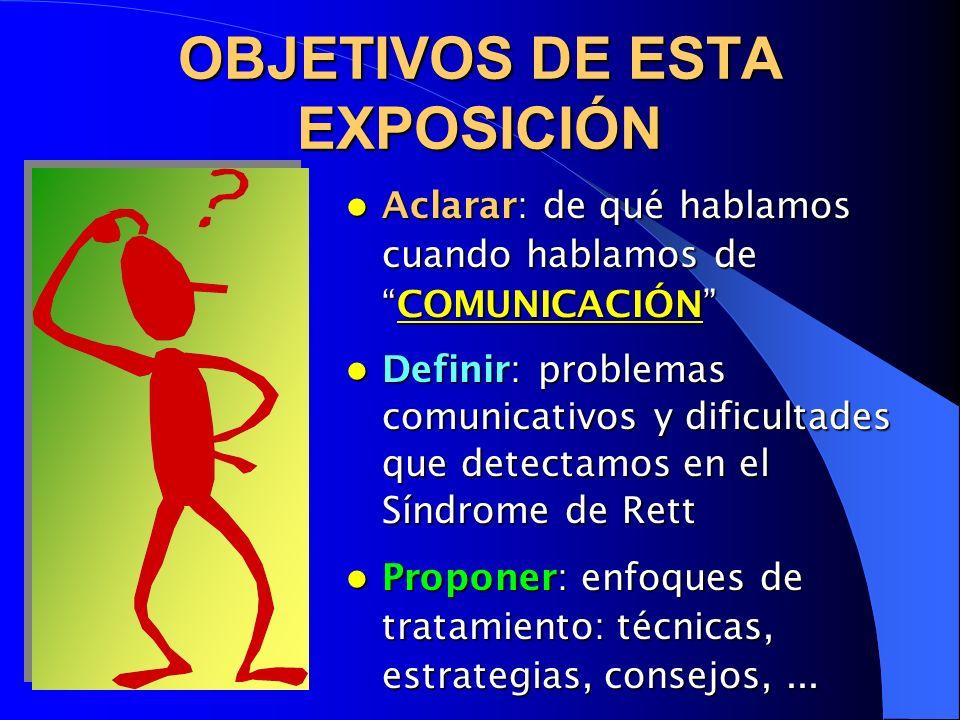 OBJETIVOS DE ESTA EXPOSICIÓN