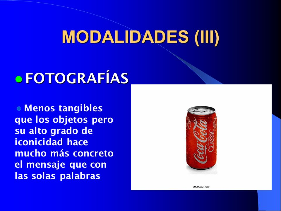 MODALIDADES (III) FOTOGRAFÍAS
