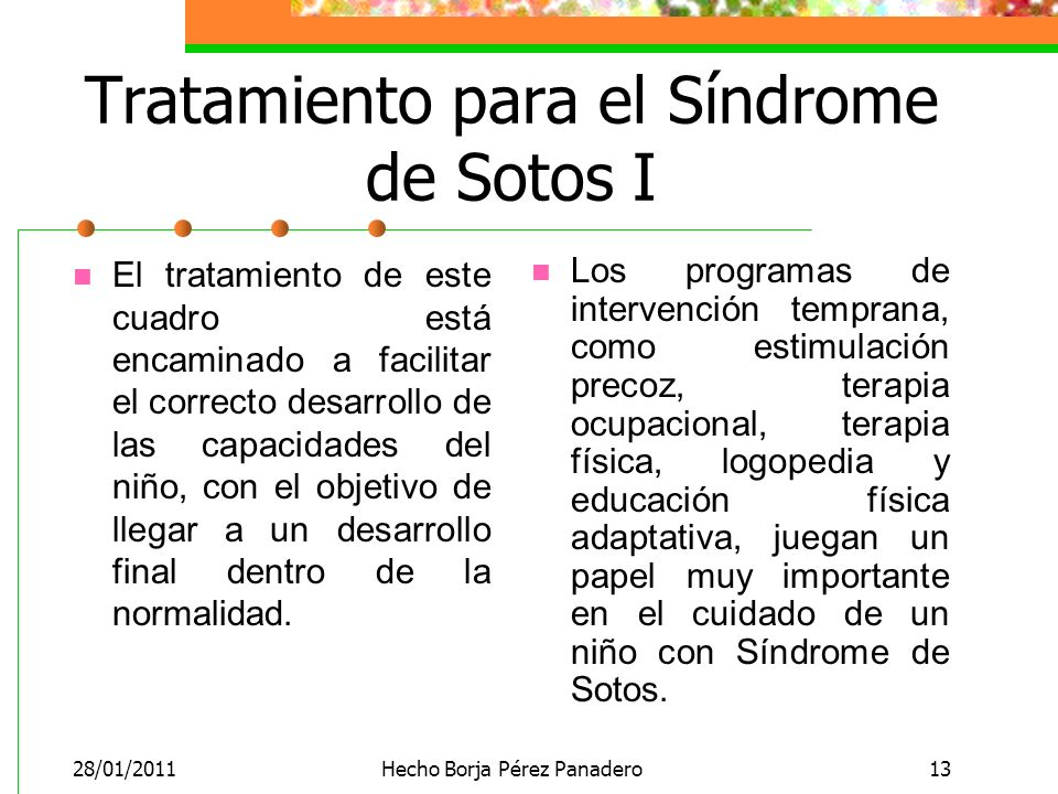 Tratamiento para el Síndrome de Sotos I