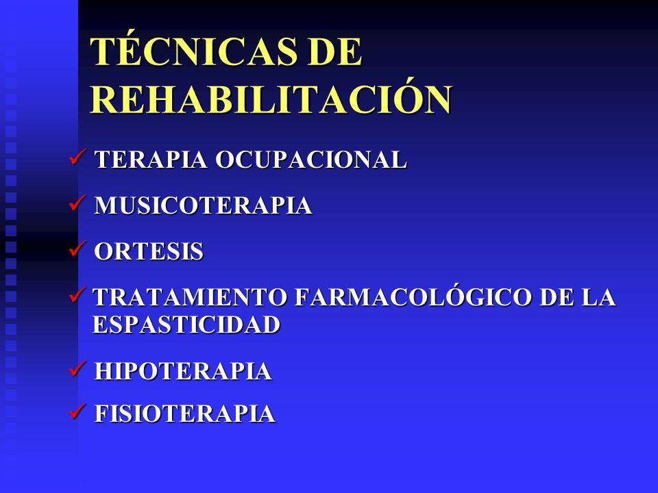 TÉCNICAS DE REHABILITACIÓN