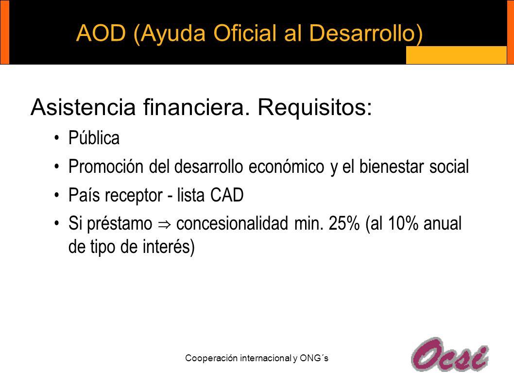 AOD (Ayuda Oficial al Desarrollo)