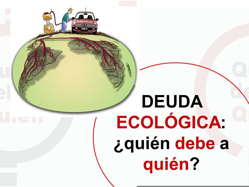DEUDA ECOLÓGICA: ¿quién debe a quién