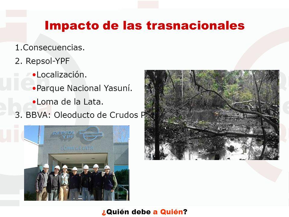 Impacto de las trasnacionales