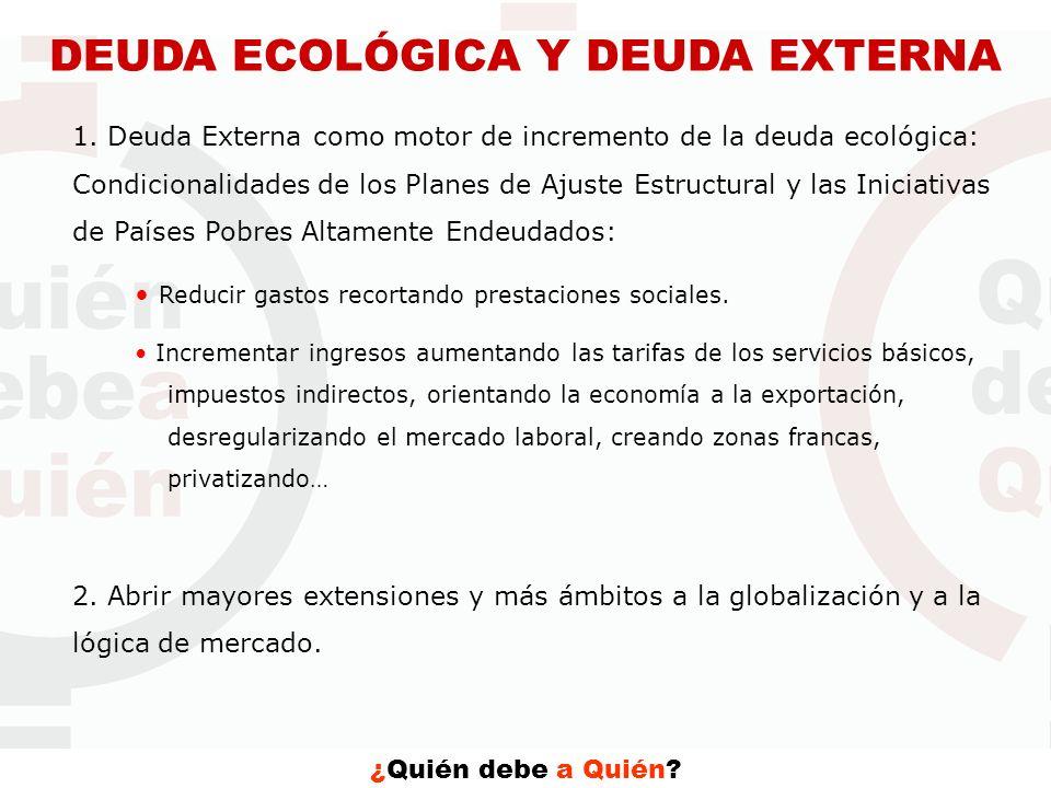 DEUDA ECOLÓGICA Y DEUDA EXTERNA