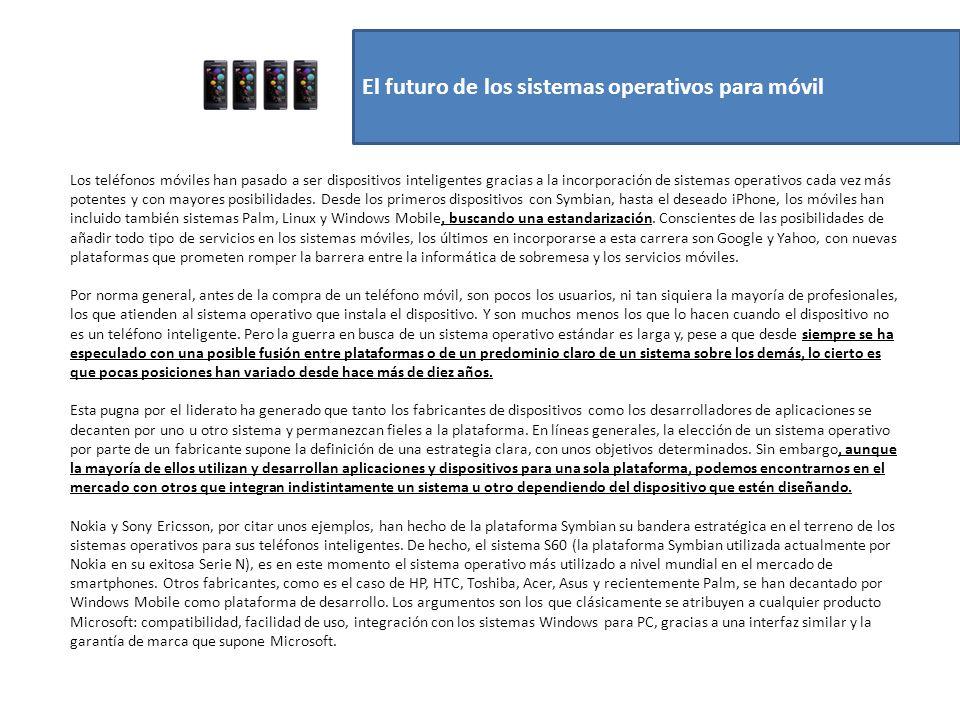 El futuro de los sistemas operativos para móvil