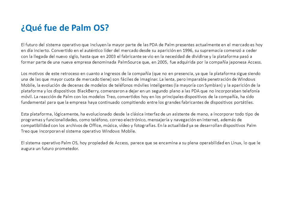 ¿Qué fue de Palm OS.