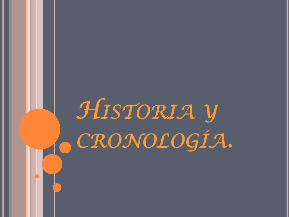 Historia y cronología.
