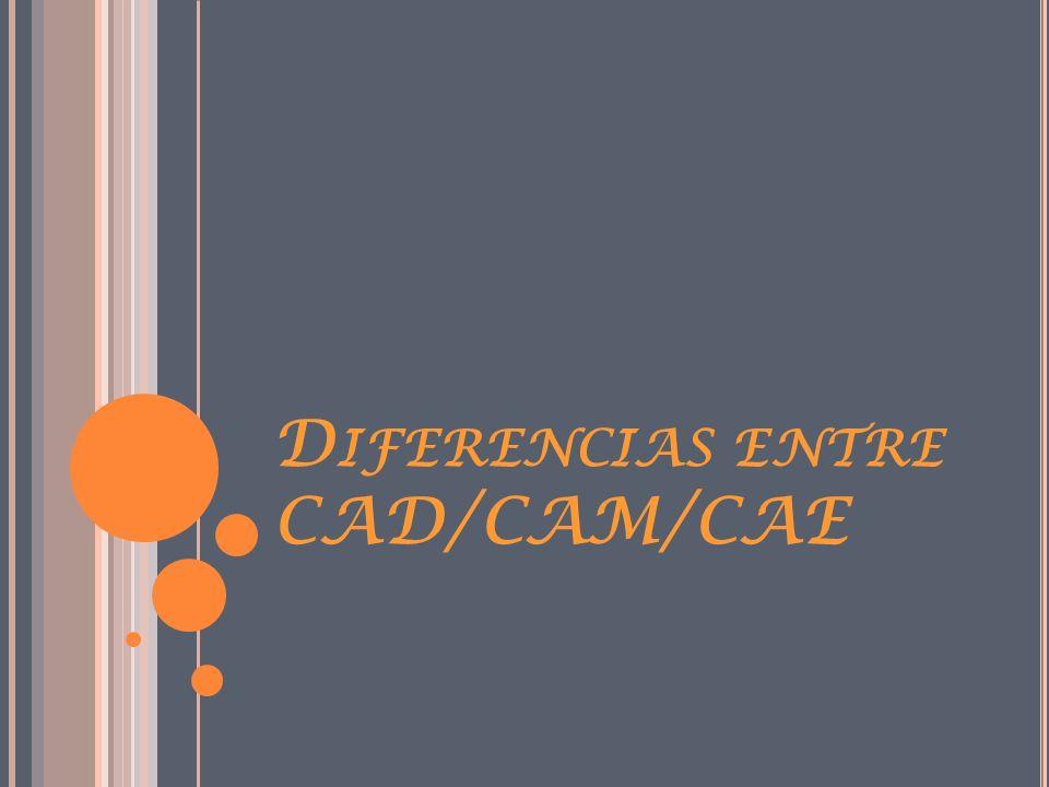 Diferencias entre CAD/CAM/CAE
