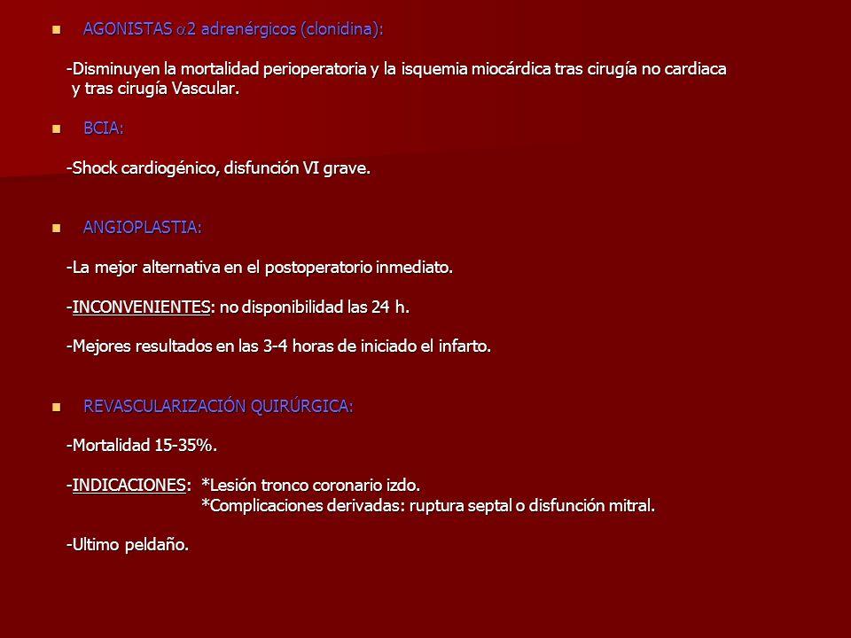 AGONISTAS 2 adrenérgicos (clonidina):