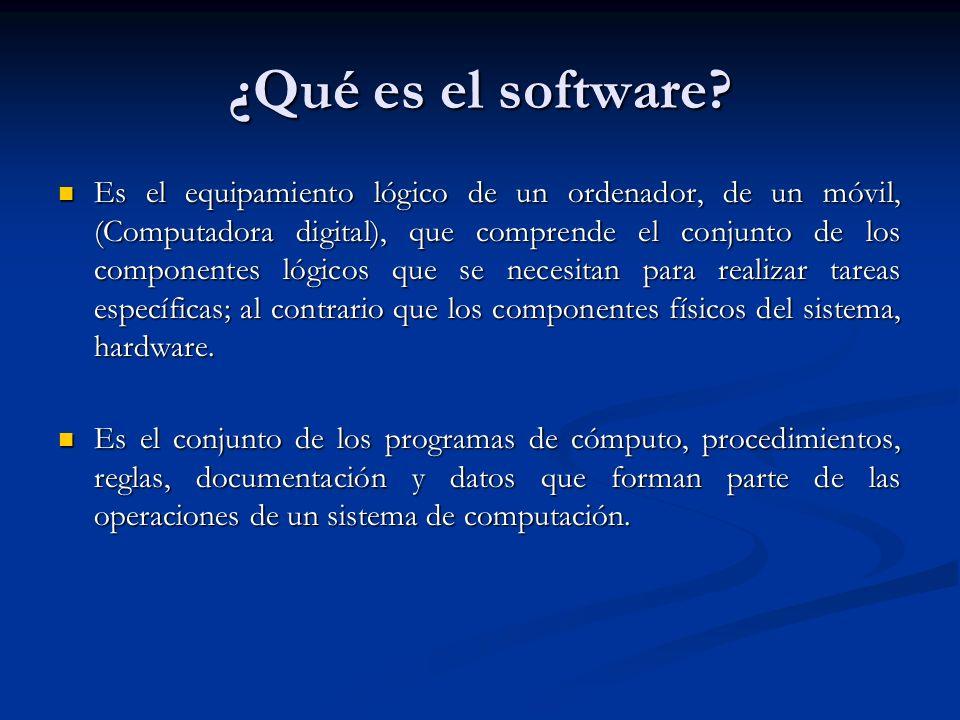 ¿Qué es el software