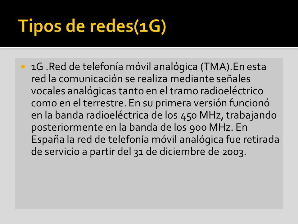Tipos de redes(1G)