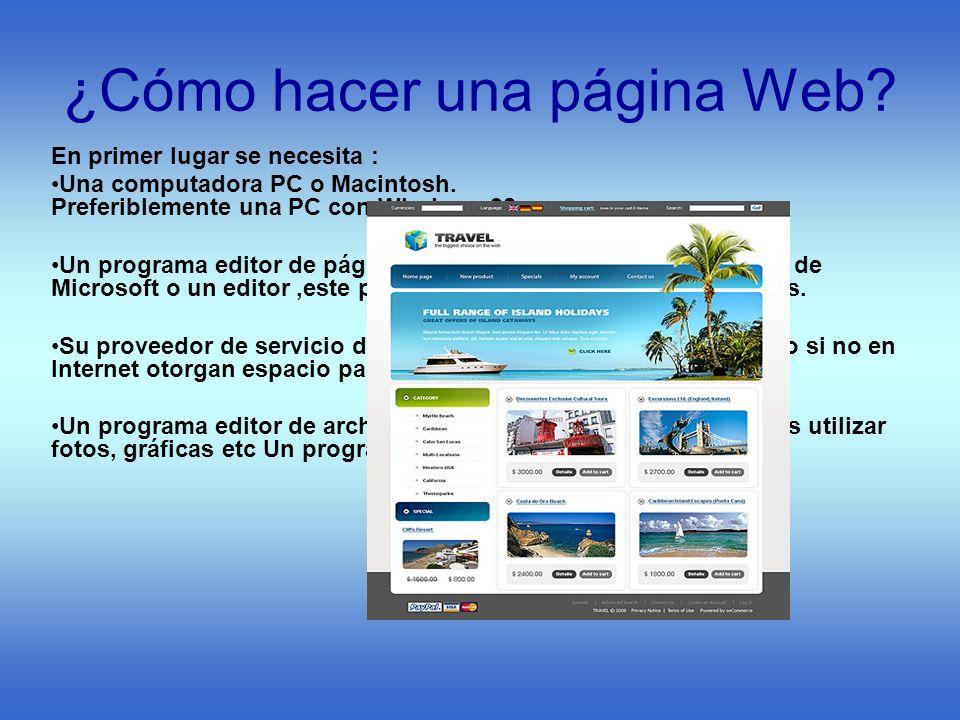 ¿Cómo hacer una página Web