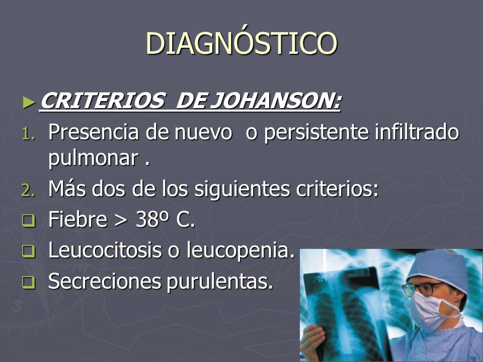 DIAGNÓSTICO CRITERIOS DE JOHANSON: