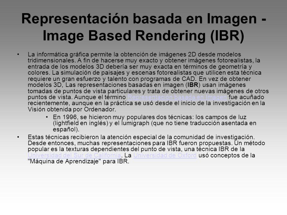 Representación basada en Imagen - Image Based Rendering (IBR)
