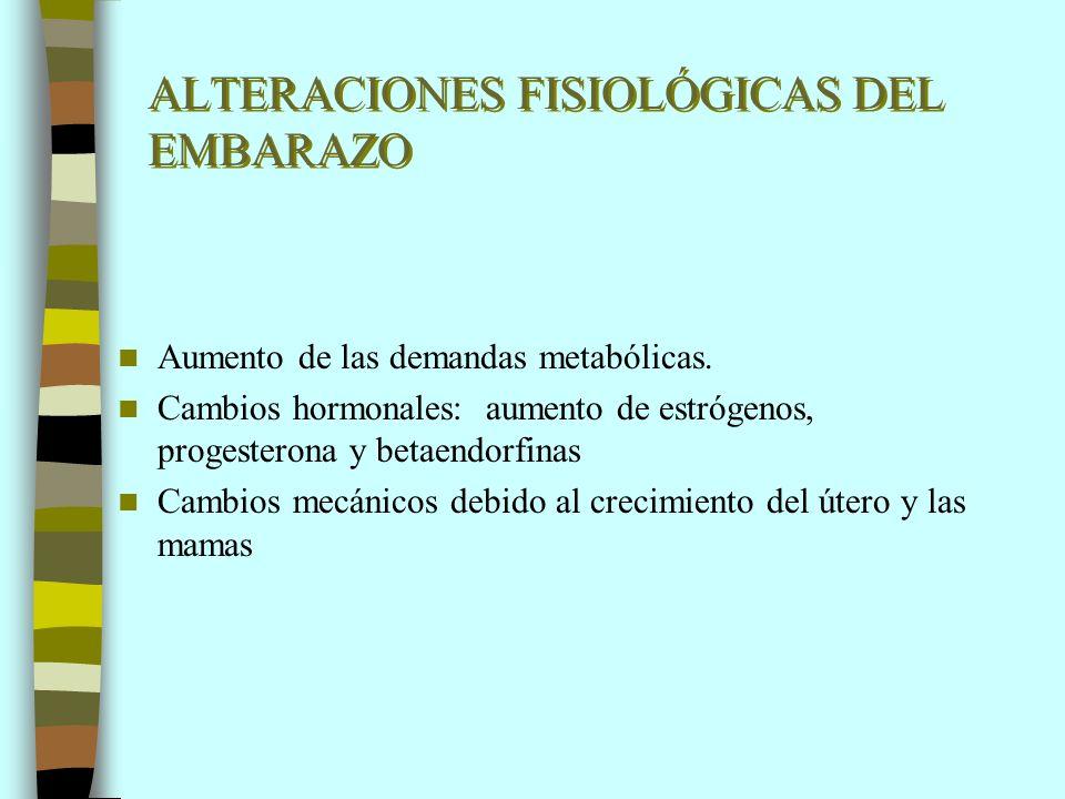 ALTERACIONES FISIOLÓGICAS DEL EMBARAZO