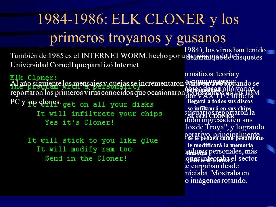 1984-1986: ELK CLONER y los primeros troyanos y gusanos