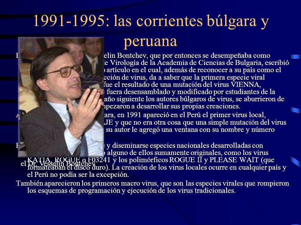 1991-1995: las corrientes búlgara y peruana