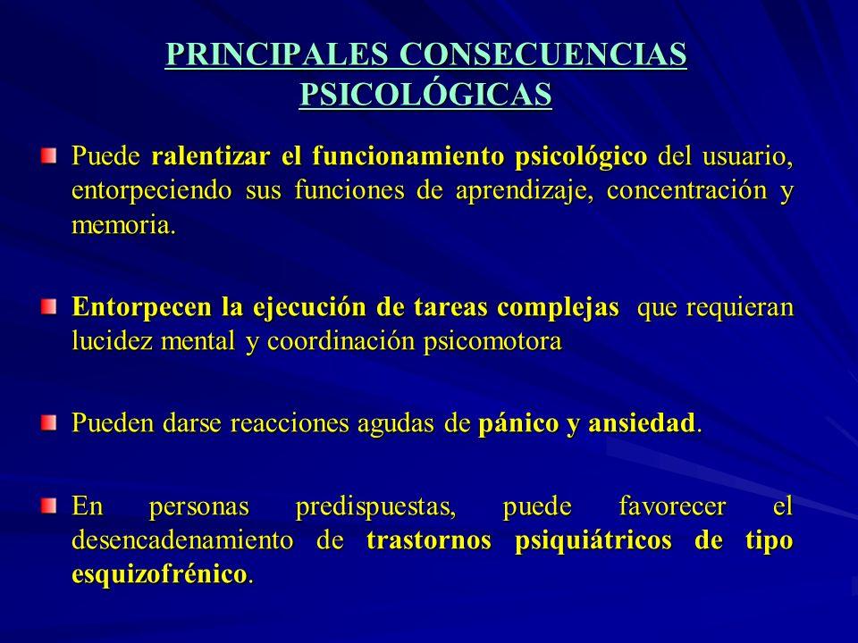 PRINCIPALES CONSECUENCIAS PSICOLÓGICAS
