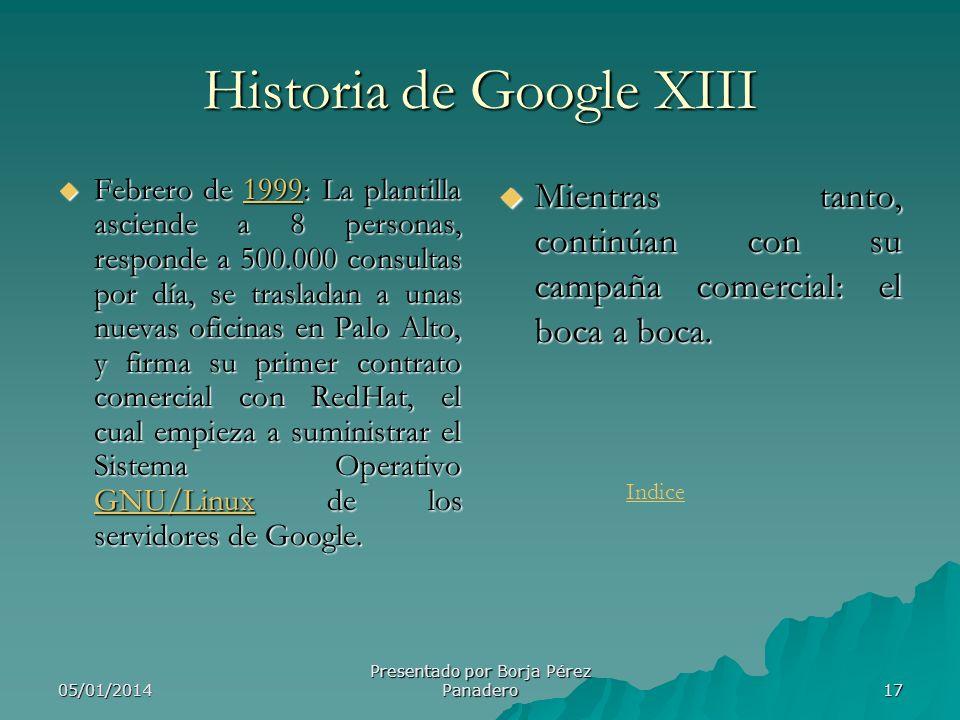 Historia de Google XIII