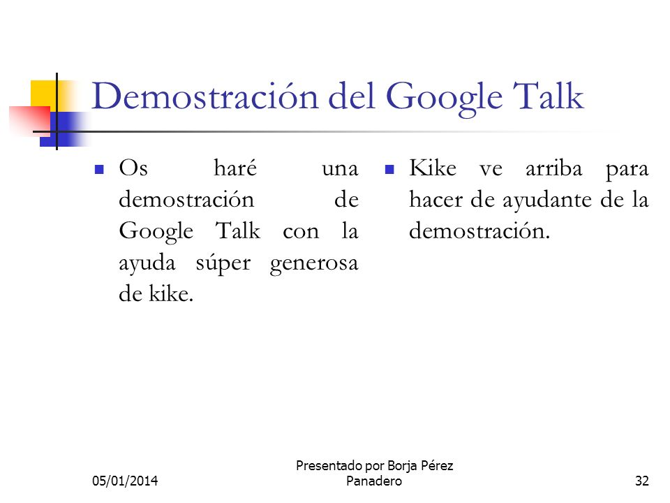 Demostración del Google Talk