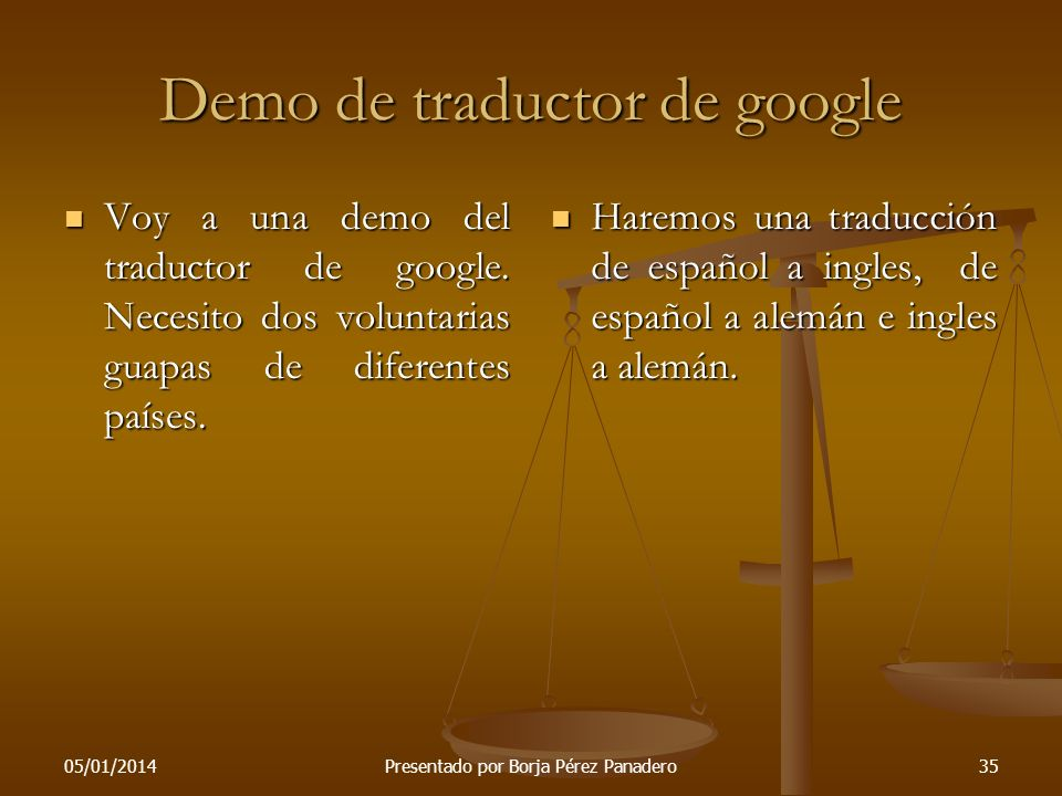 Demo de traductor de google