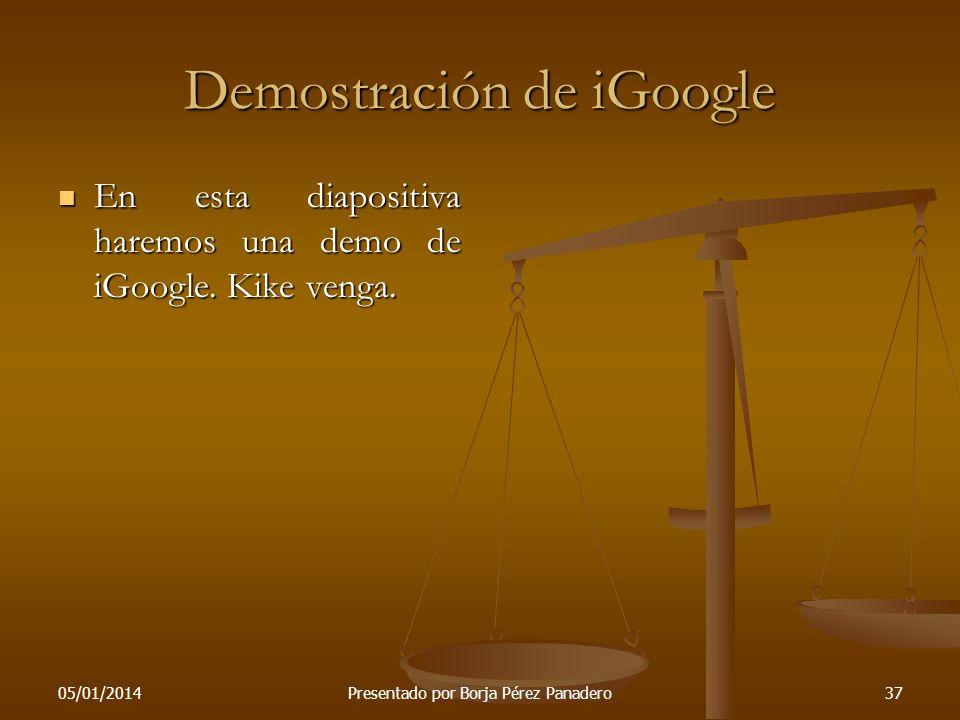 Demostración de iGoogle