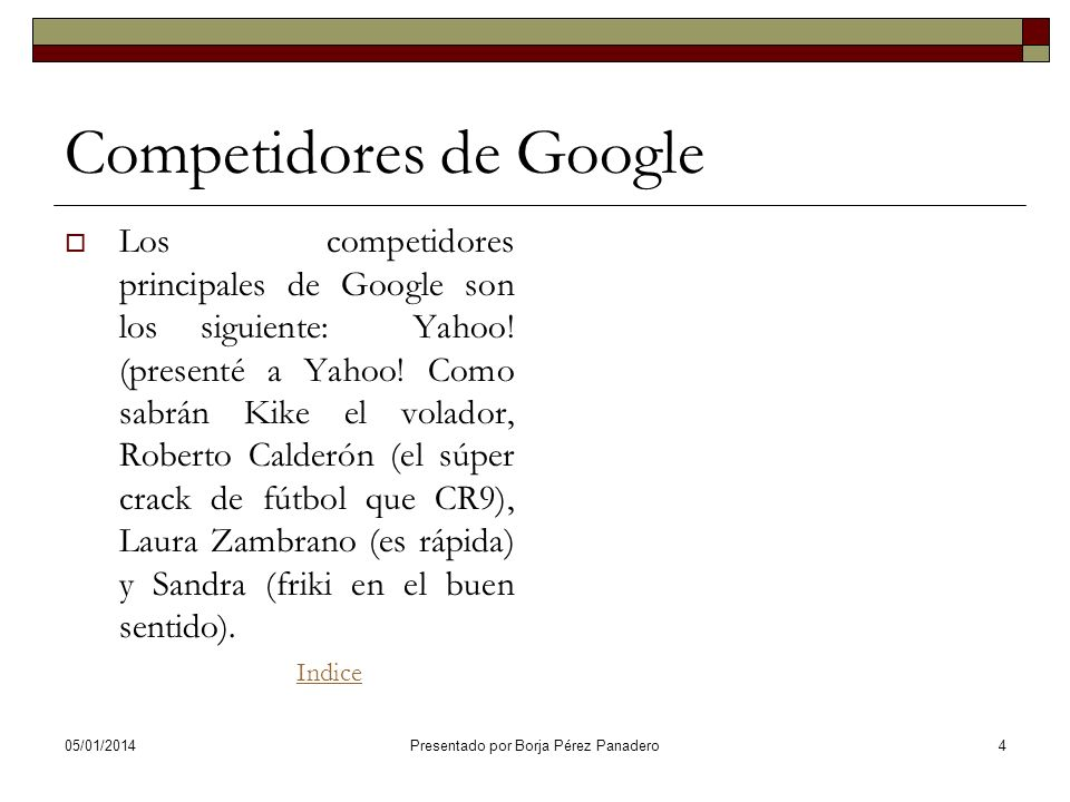 Competidores de Google