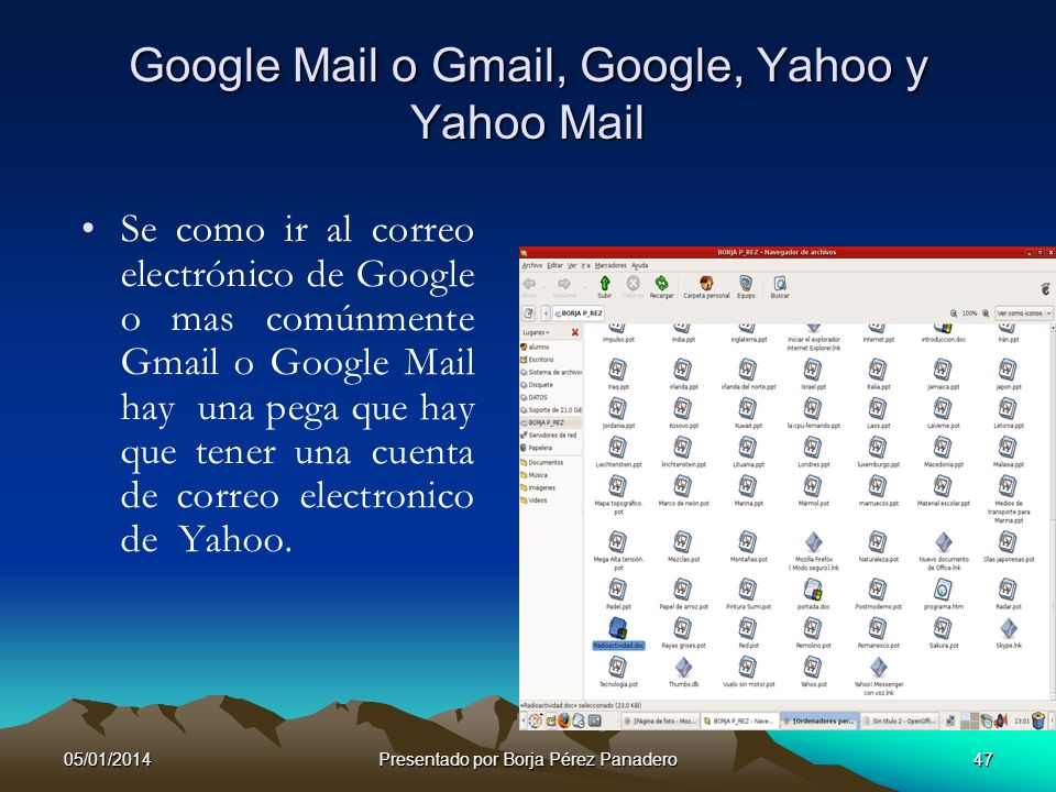 Google Mail o Gmail, Google, Yahoo y Yahoo Mail