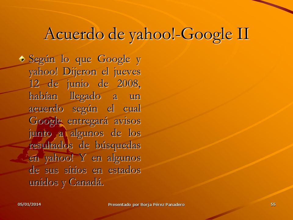 Acuerdo de yahoo!-Google II