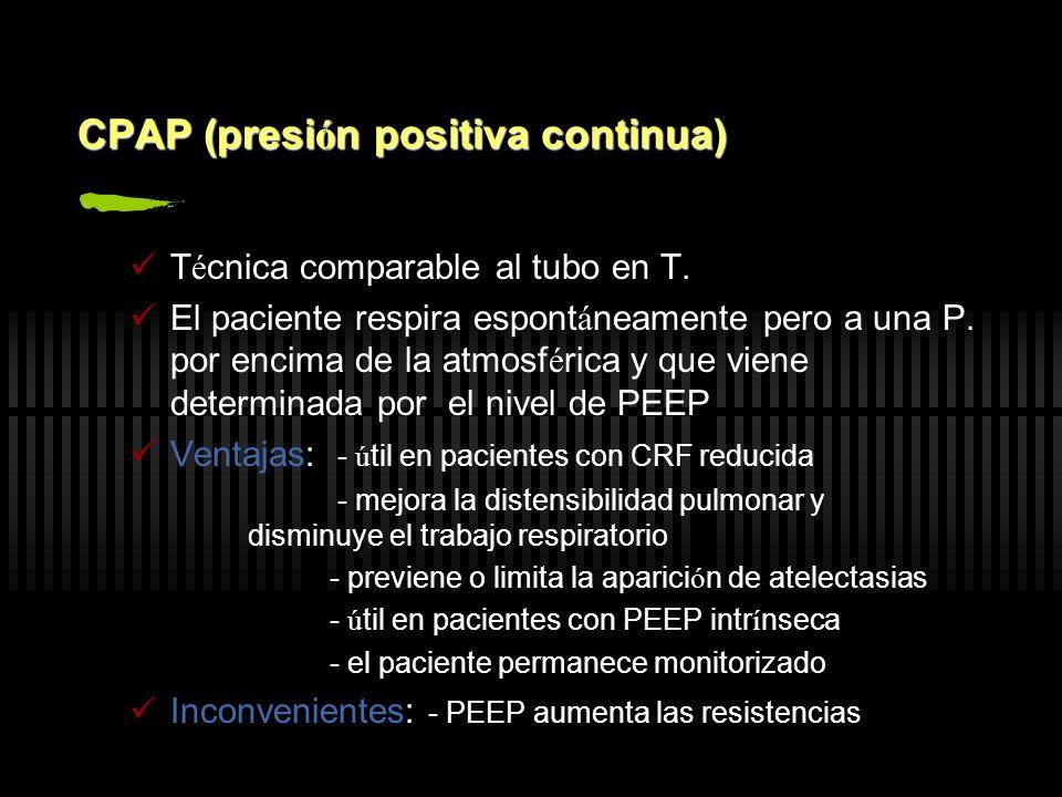 CPAP (presión positiva continua)