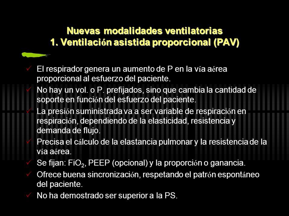 Nuevas modalidades ventilatorias 1