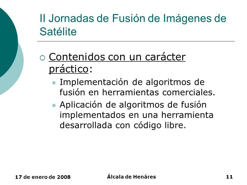 II Jornadas de Fusión de Imágenes de Satélite
