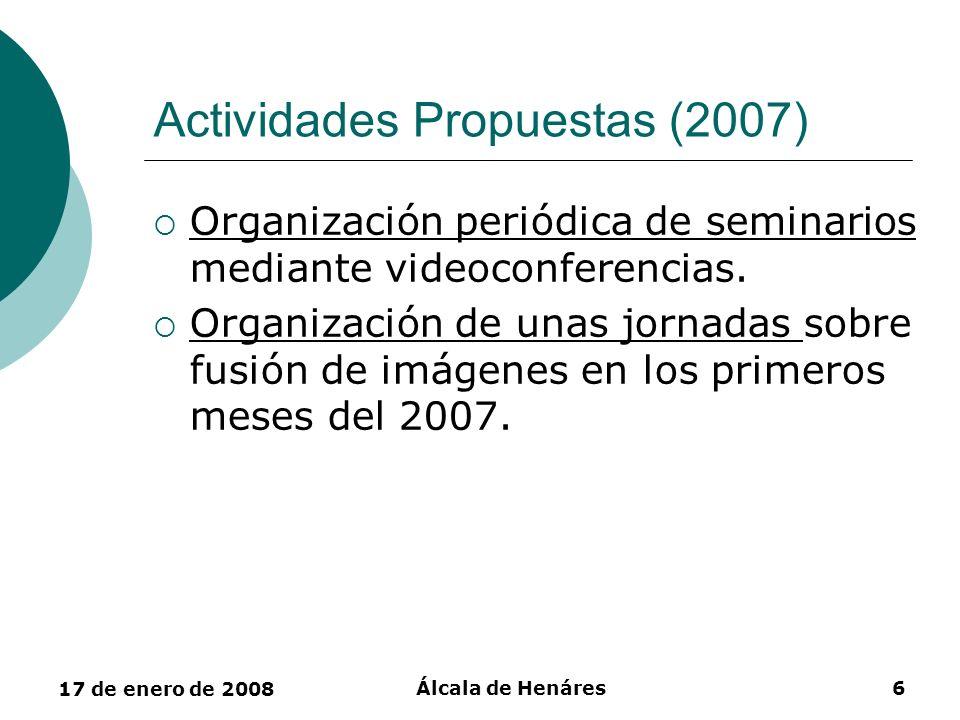Actividades Propuestas (2007)