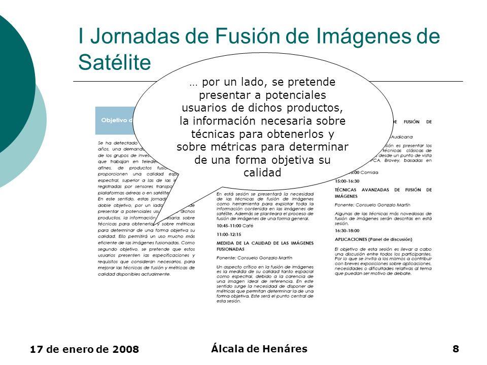 I Jornadas de Fusión de Imágenes de Satélite