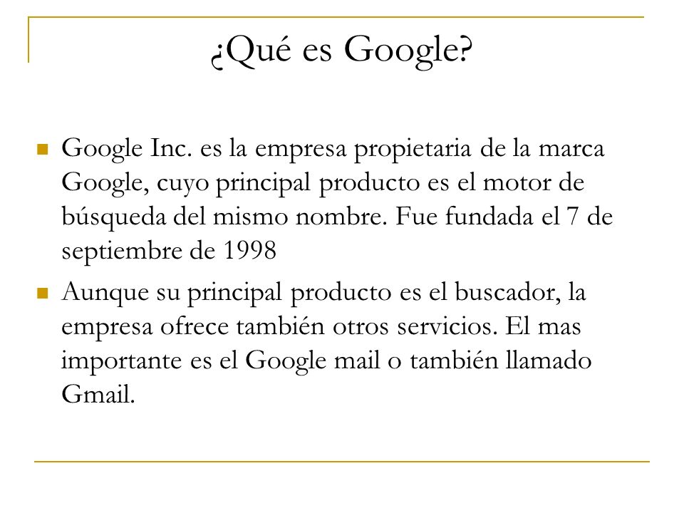 ¿Qué es Google
