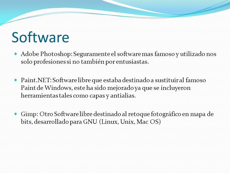 Software Adobe Photoshop: Seguramente el software mas famoso y utilizado nos solo profesiones si no también por entusiastas.
