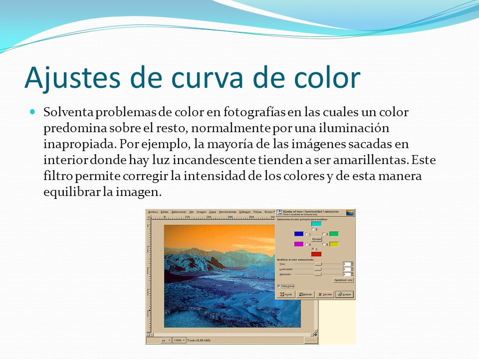 Ajustes de curva de color